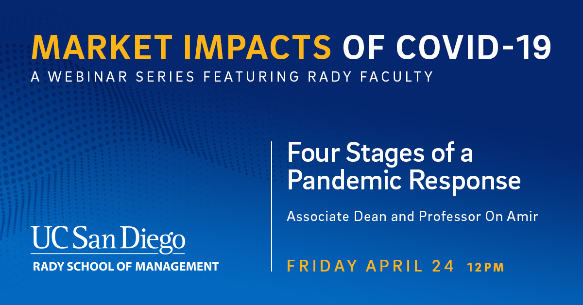 Join Rady Faculty for Market Impacts of COVID-19 Webinar Series